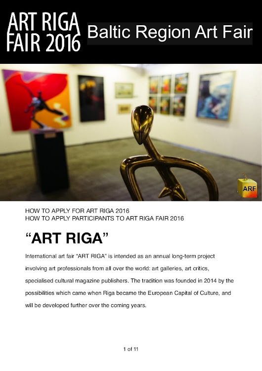 Art riga fair 2016. 21-27 November. How to apply participants http://…