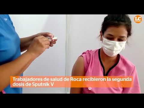 En tres horas, vacunaron a 126 trabajadores de salud en el CEM 9 de Roca