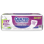 Quilted Northern Ultra Plush 3Ply Bath Tissue, 30 Jumbo Rolls, 949 Sq ft