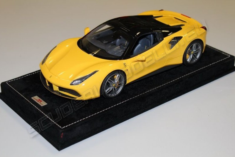 Mr Collection Ferrari 488 Spider Hard Top Giallo Modena Black Scuderiamodelli By Robert