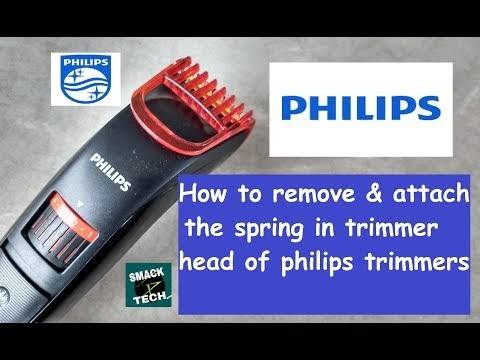 Phillips Trimmer Spring removal & attachment technique from trimmer Head