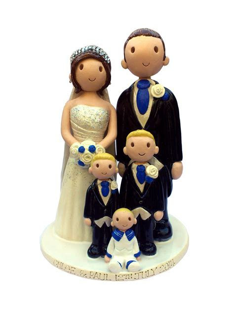 Wedding Cake Toppers. Hand Made Personalised Wedding Cake