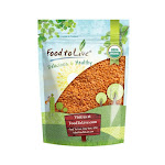 Organic Red Split Lentils, 5 Pounds - by Food to Live