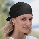 Big Accessories BA001 Bandana Solid Black One Size | The Deal Rack