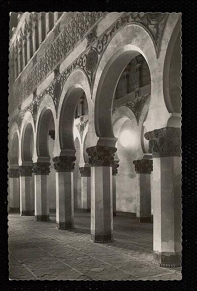 Sinagoga de Santa María la Blanca a mediados del siglo XX. Foto Garrabella