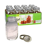 Ball Quart Regular Mouth Canning Jars - 12 Pack - 62000
