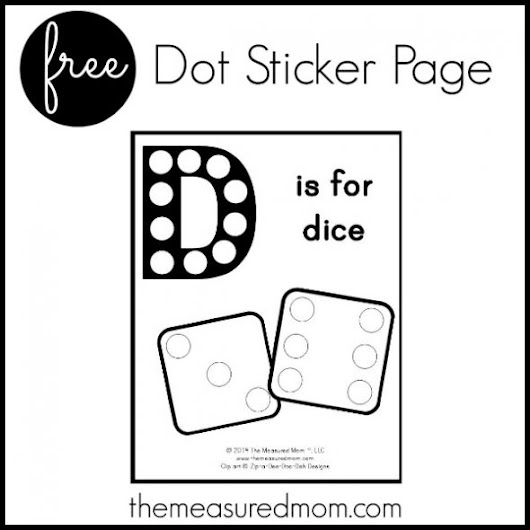 Free Letter D Printable - The Measured Mom