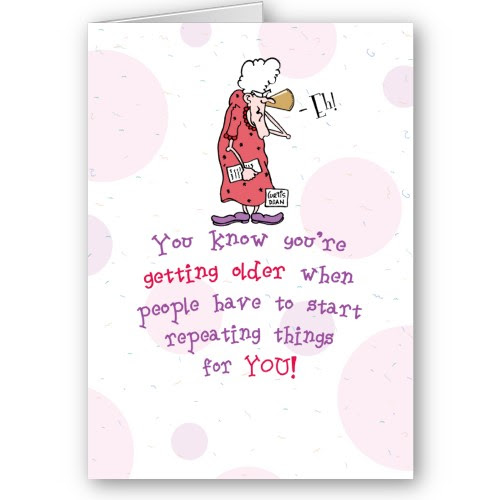 Funny Birthday Lady Over The Hill Card