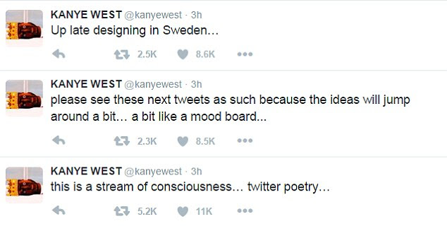 Inspired: He said he was in Sweden and said he was inspired by a visit to Ikea