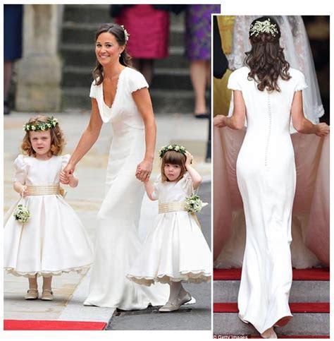 Pippa Sets a Trend   White Bridesmaid's Dresses