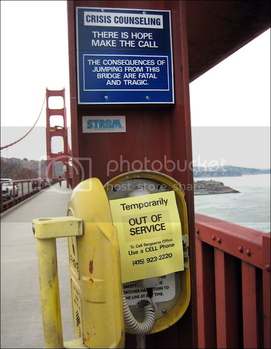 Gahsoon: Suicide prevention message on the Golden Gate Bridge