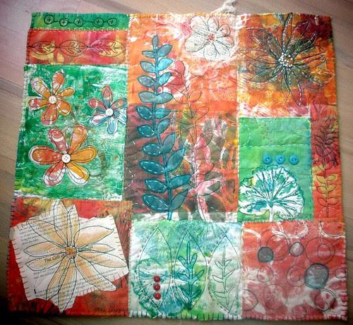 monoprint nature quilt
