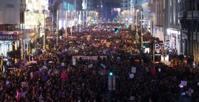 Manifestación del 8M en Madrid. J. GÓMEZ