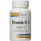 Solaray Vitamin D-3 Lemon 2000 IU - 60 Lozenges