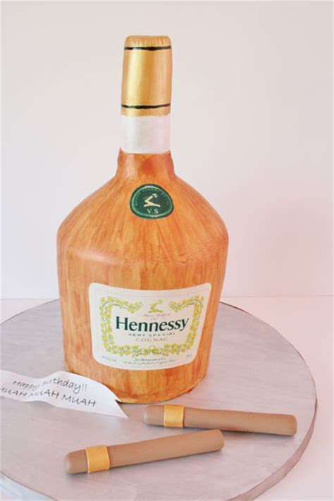 3D Birthday Cakes New Jersey   Hennessy Cognac Bottle