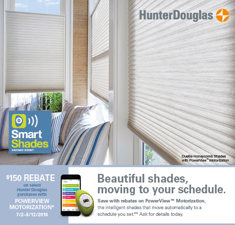 Hunter Douglas Specials | Window Treatments | Rebate