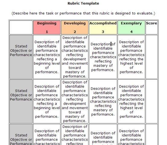 1000+ images about Rubrics on Pinterest   Stick it, Assessment and ...