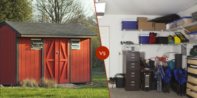 Storing Items: Standalone Tool Shed VS Garage - Steve Allen Construction