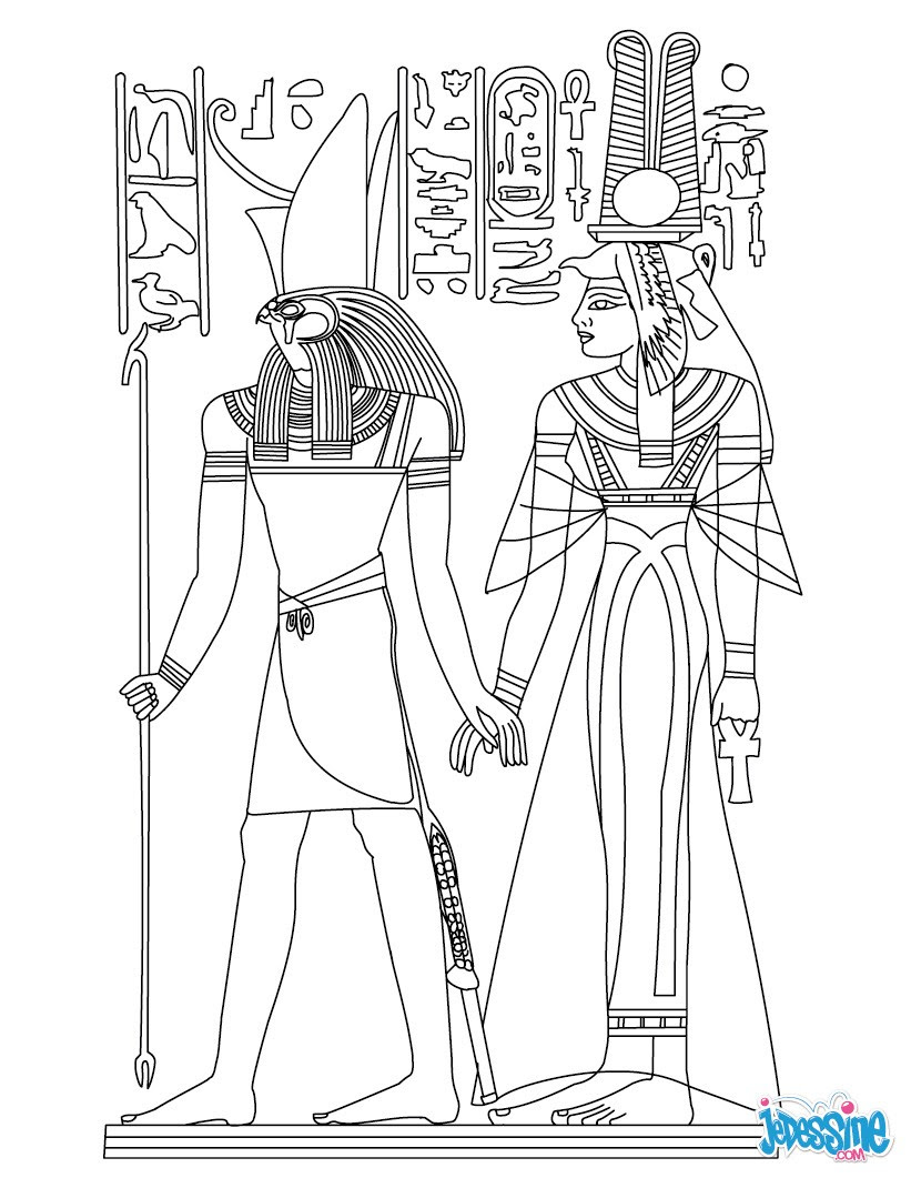 Génial Coloriage Egypte A Imprimer