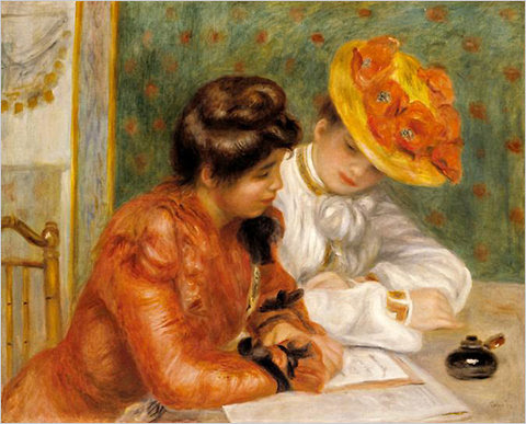 """Pierre-Auguste Renoir's """"The Letter"""" (c. 1895-1900), part of the """"Passion for Renoir"""" exhibition at the Prado in Madrid."""