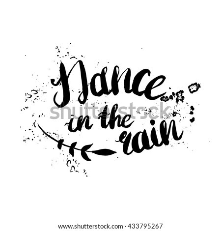 Dancing In The Rain Quote Clip Art