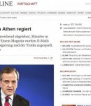 η έγκριτη γερμανική εφημερίδα Die Zeit : «Πώς κυβερνάει η Τρόικα στην Αθήνα»,