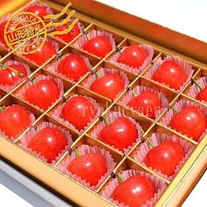 父の日当日お届けOK!さくらんぼ佐藤錦24粒・メッセージカード付き