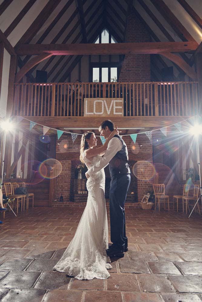 Cross-lit wedding first dance floor, Barrandov Opera - www.helloromance.co.uk