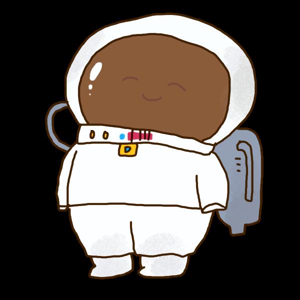 宇宙飛行士のイラスト かわいいフリー素材が無料のイラストレイン