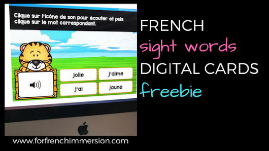 French Sight Words Digital Freebie - For French Immersion