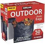 Kirkland Signature 50-Gallon Outdoor Trash Bag, Black, 70-count