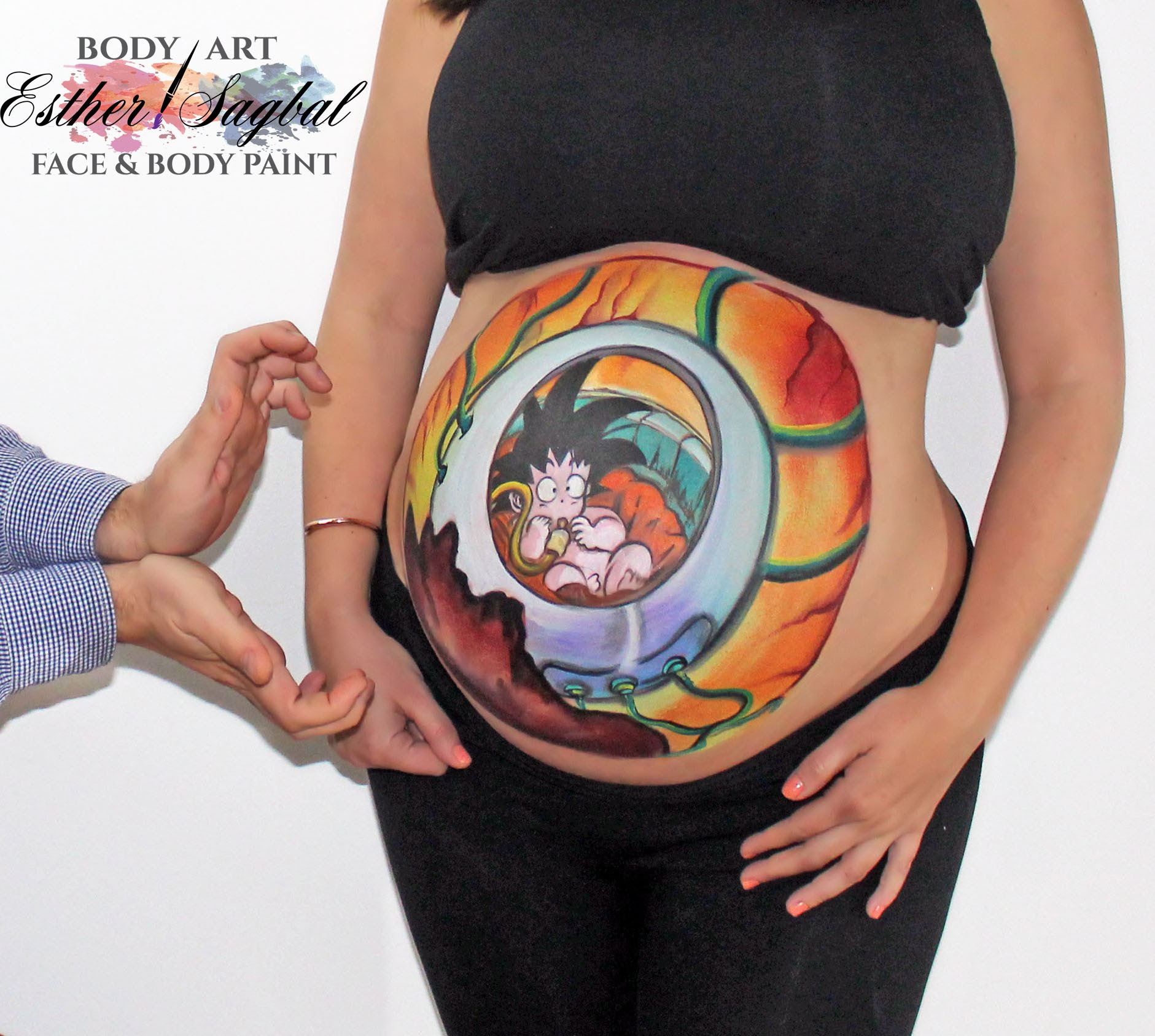 Bellypainting Madrid Bellypaint Son Goku Bola De Dragón Mil Ideas