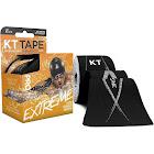 KT Tape Pro Extreme Sports Tape, Elastic, Jet Black, 10 Inch Precut Strips - 20 strips