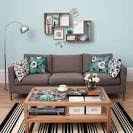Living Room: Cozy Blue Living Room For Relaxation, Pastel Colors ...