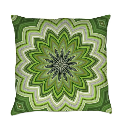 Abstract Green Flower Everyday Pillow by Admin_CP79877276