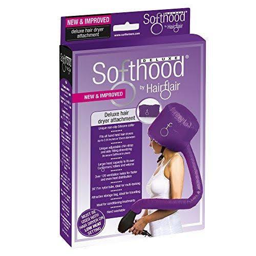 Hair Flair Deluxe Softhood Hair Dryer Attachment - Purple