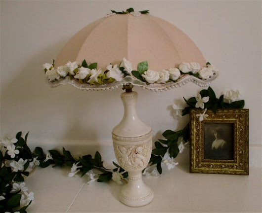 Lampshade decorated bespoke fairy parasol