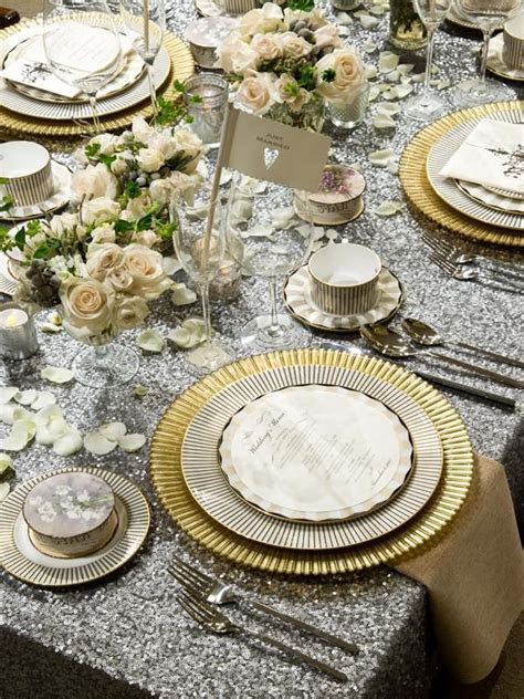 Top 25  best Gold table settings ideas on Pinterest