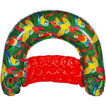 Margaritaville Pool Floats Sit & Sip Hammock Style Inflatable Water Chair, Red at VM Express