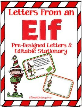Letters From an Elf Pre-Designed Letters and Editable Stationary ...