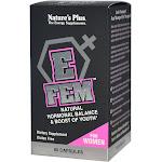 Nature's Plus, E Fem for Women, Natural Hormonal Balance, 60 Capsules