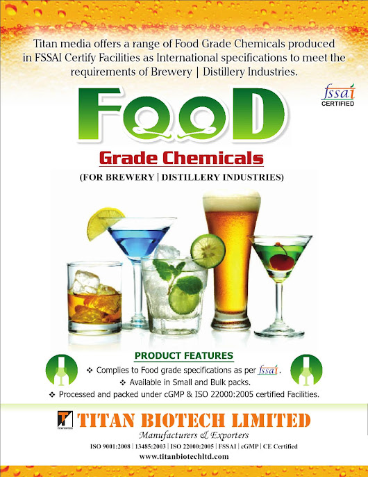 Food grade chemicals (brewery & distillery)