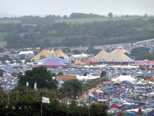 towards the dance tents
