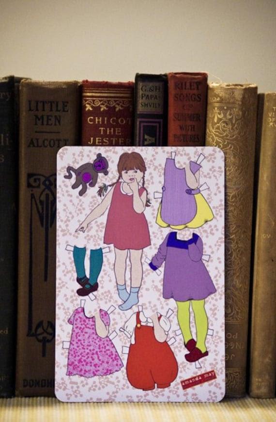 Asha Paper Doll Postcards (set of 3)