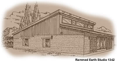 Rammed Earth House Plans Rammed Earth Home House Plan 1342