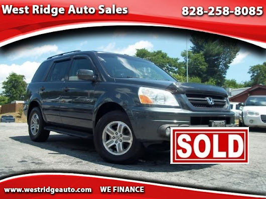 Used 2003 Honda Pilot EX w/ Leather and Nav System for Sale in Asheville NC 28806 West Ridge Auto Sales