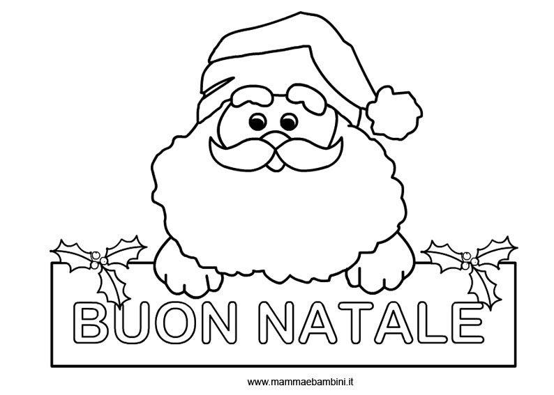 Disegno Babbo Natale Da Colorare Mamma E Bambini