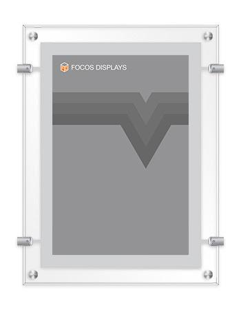 Clear Frame Wall Suspension Focos Displays