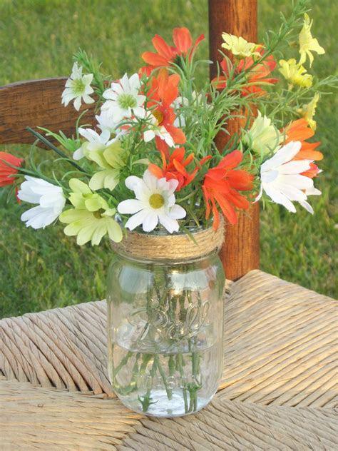 10 Mason Jar Flower Lids Frog Mason Jar Lids Twine Covered
