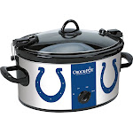 Crock-Pot - Cook and Carry Indianapolis Colts 6-Qt. Slow Cooker - Blue/White